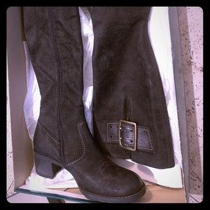 NEW Paul Green black suede knee high boots